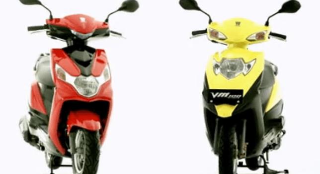 豪爵vn100t-6踏板摩托车视频
